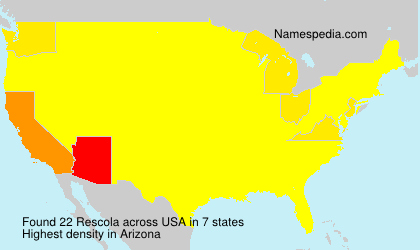 Surname Rescola in USA