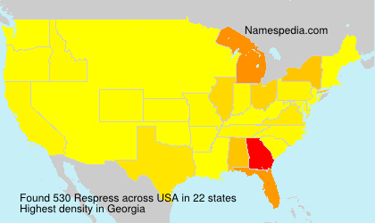Surname Respress in USA