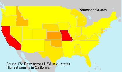 Surname Resz in USA