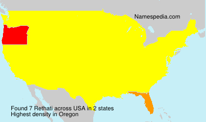 Surname Rethati in USA