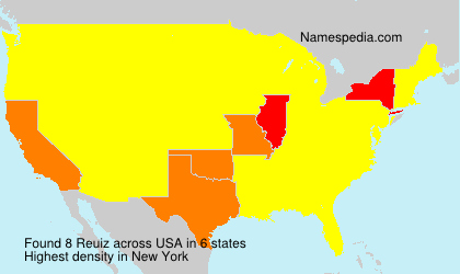 Surname Reuiz in USA