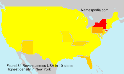 Surname Revans in USA