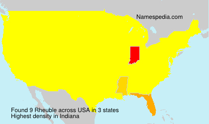 Surname Rheuble in USA