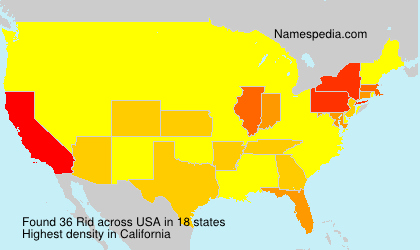 Surname Rid in USA