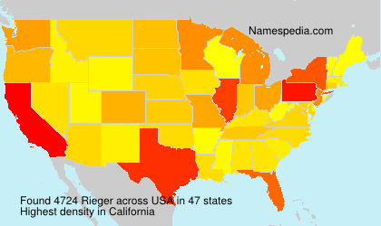 Surname Rieger in USA
