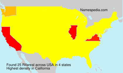 Surname Rifareal in USA