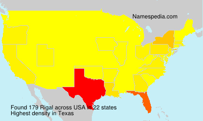 Surname Rigal in USA