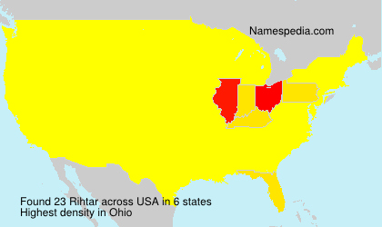 Surname Rihtar in USA