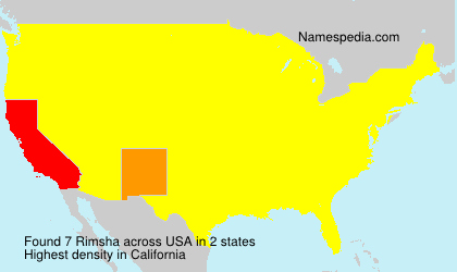Surname Rimsha in USA