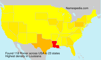 Surname Rixner in USA