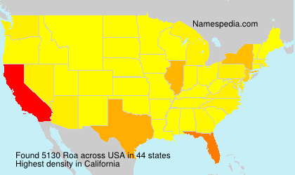 Surname Roa in USA