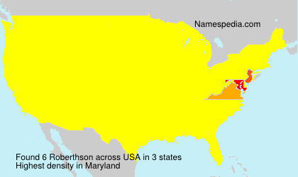 Surname Roberthson in USA