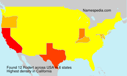 Surname Rodert in USA