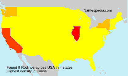 Surname Rodinos in USA