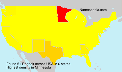 Surname Rogholt in USA