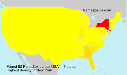 Surname Rohadfox in USA