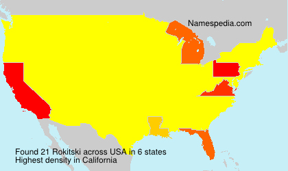Surname Rokitski in USA