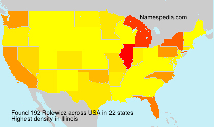 Surname Rolewicz in USA