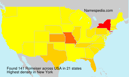 Surname Romeiser in USA