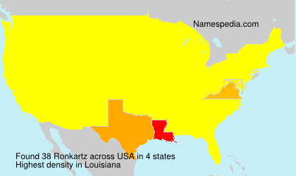 Surname Ronkartz in USA