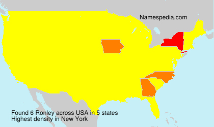 Surname Ronley in USA