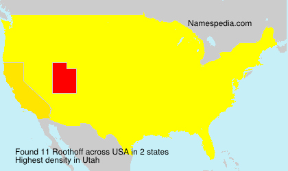 Surname Roothoff in USA