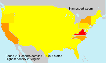 Surname Rosebro in USA