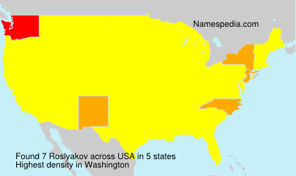 Surname Roslyakov in USA