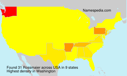 Surname Rossmaier in USA