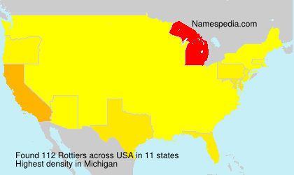 Surname Rottiers in USA
