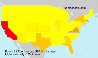 Surname Rouhi in USA