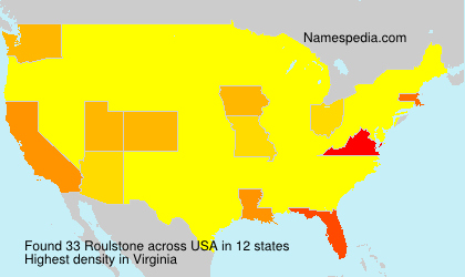 Surname Roulstone in USA
