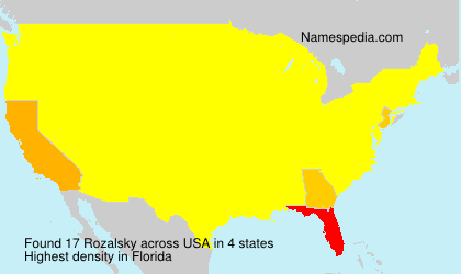 Surname Rozalsky in USA