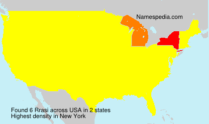 Surname Rrasi in USA