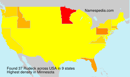 Surname Rudeck in USA