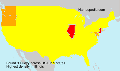 Surname Rudyy in USA