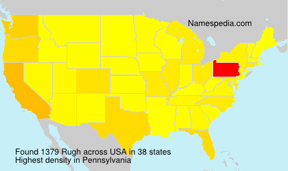 Surname Rugh in USA