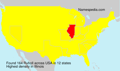 Surname Ruholl in USA