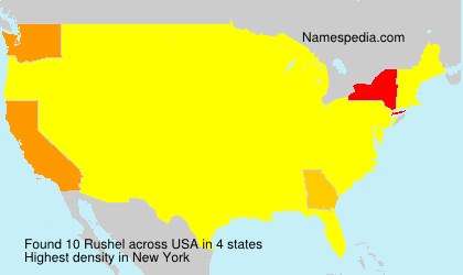 Surname Rushel in USA