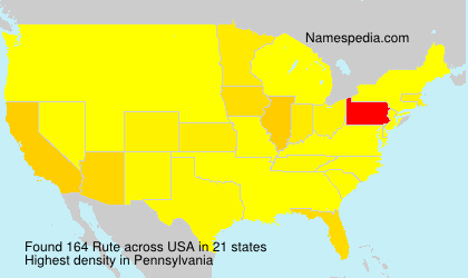 Surname Rute in USA