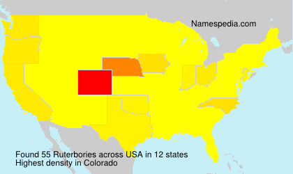 Surname Ruterbories in USA