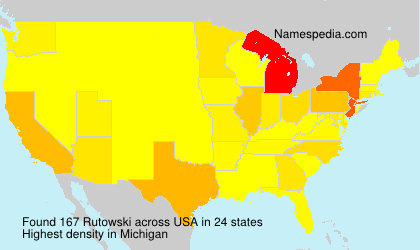 Surname Rutowski in USA