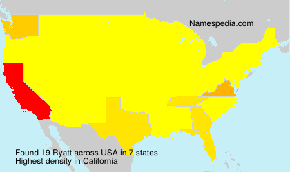 Surname Ryatt in USA