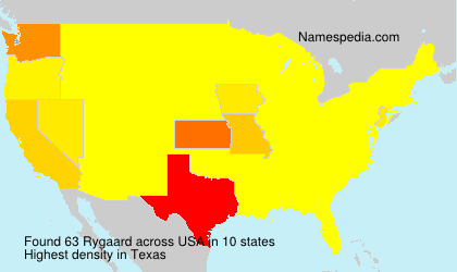 Surname Rygaard in USA
