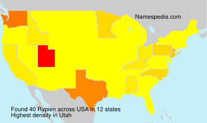 Surname Rypien in USA