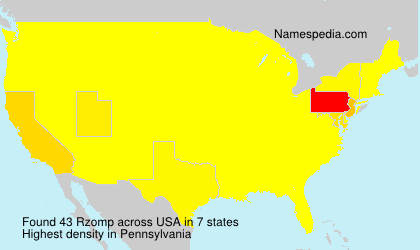 Surname Rzomp in USA