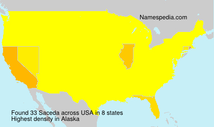 Surname Saceda in USA