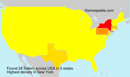 Surname Safern in USA