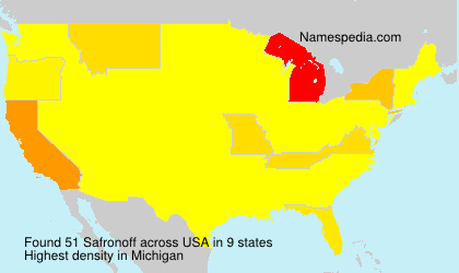 Surname Safronoff in USA