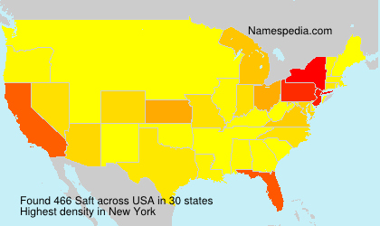 Surname Saft in USA